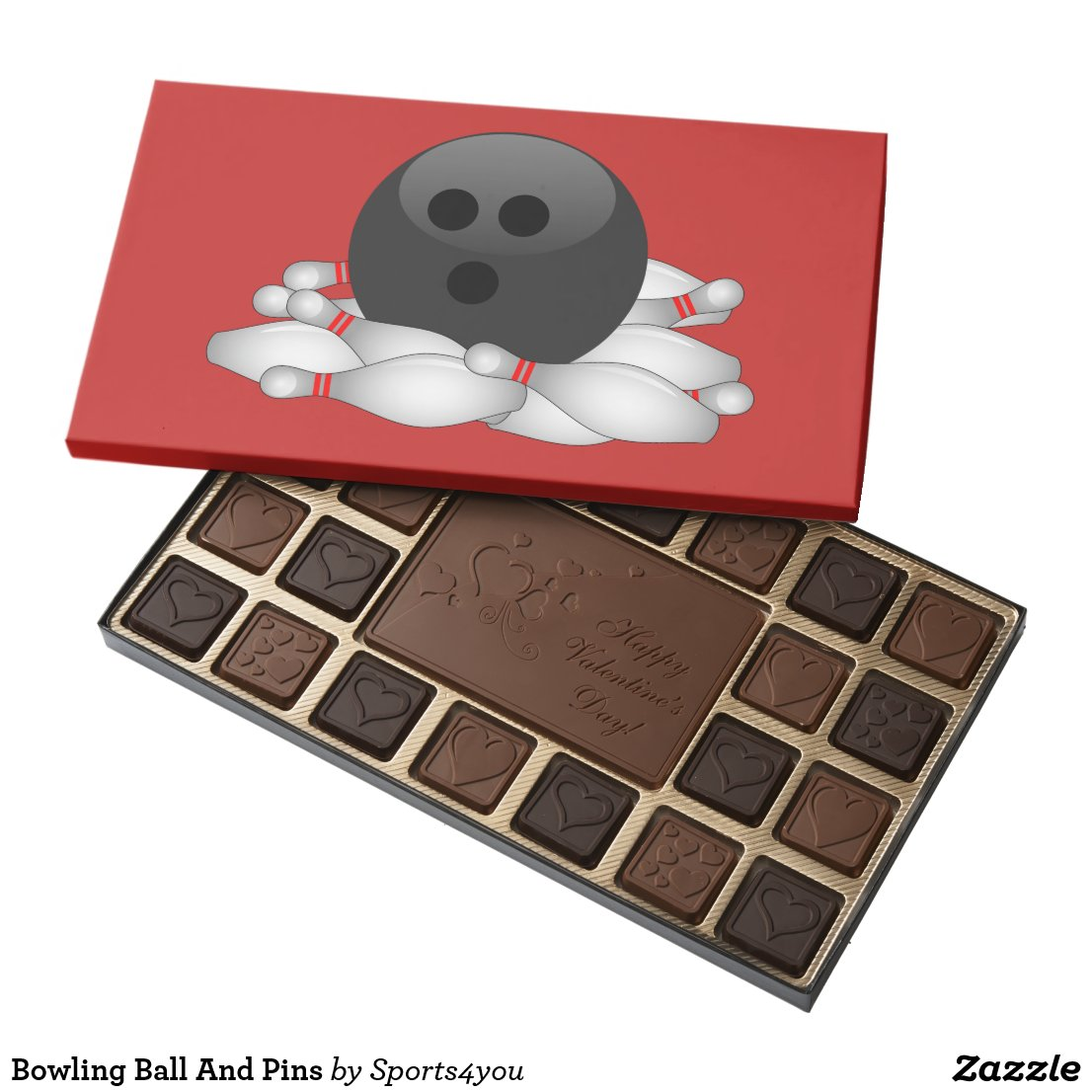 Bowling Ball And Pins Assorted Chocolates