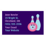 Bowling Ball and Pins Business Cards Standard Business Cards