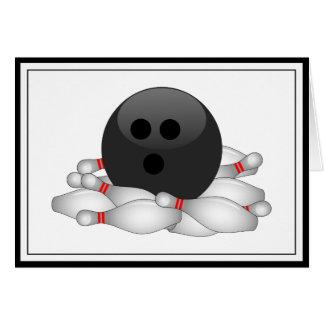 Bowling Ball And Pins Card