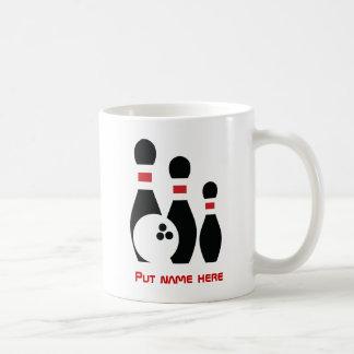 Bowling ball and pins custom classic white coffee mug