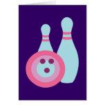 Bowling Ball and Pins Greeting Card