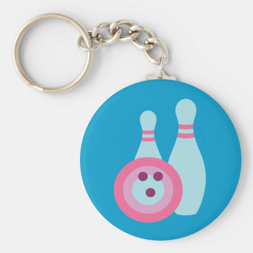 Bowling Ball and Pins Key Chains