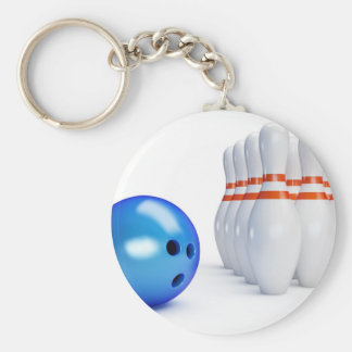 Bowling Ball and Pins Keychain