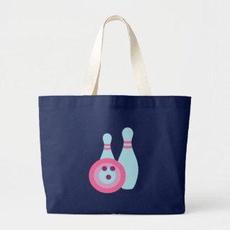 Bowling Ball and Pins Large Tote Bag