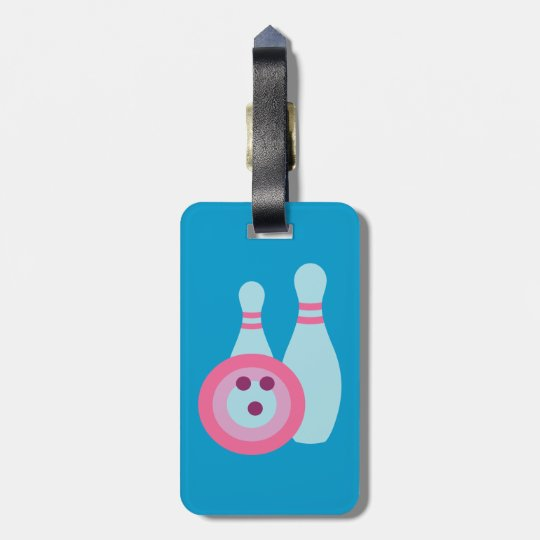 Bowling Ball and Pins Luggage Tag