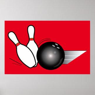 Bowling Ball and Pins Poster