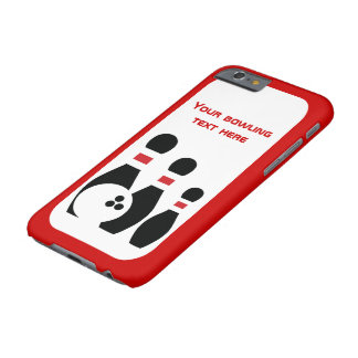 Bowling ball and pins red black modern barely there iPhone 6 case