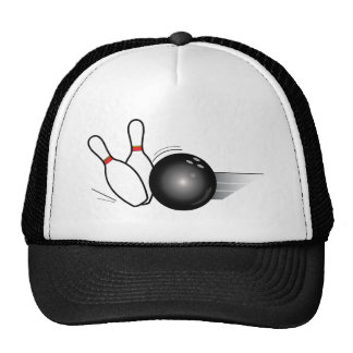 Bowling Ball and Pins Trucker Hat