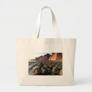 Bowling ball Beach, Schooner Gulch, POINT arena, Large Tote Bag
