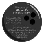 Bowling Ball Birthday Party 5.25x5.25 Square Paper Invitation Card