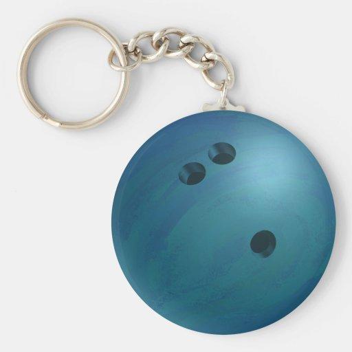 Bowling Ball Blue Key Chains
