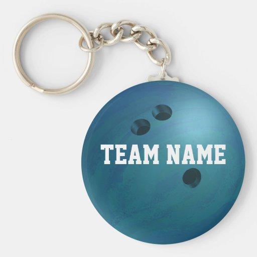 Bowling Ball Blue Key Chain