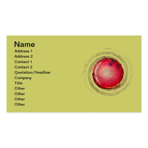 BOWLING BALL BUSINESS CARD