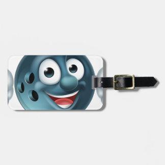 Bowling Ball Cartoon Character Luggage Tag