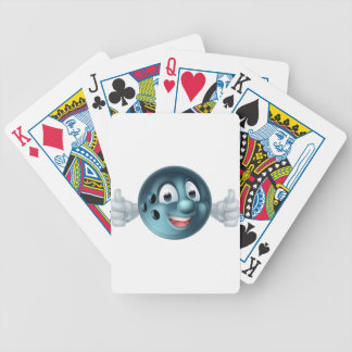 Bowling Ball Cartoon Person Bicycle Playing Cards
