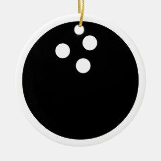 bowling ball ceramic ornament