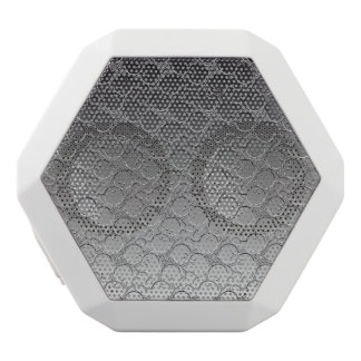 Bowling Ball Chrom Look Pattern Personalizable White Bluetooth Speaker