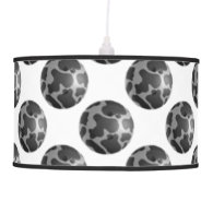 Bowling Ball Cow Gray Hanging Lamp