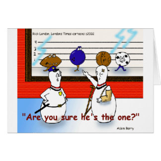 Bowling Ball Crimes Funny Gifts & Collectibles Card