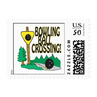 Bowling Ball Crossing Postage