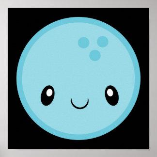 Bowling Ball Emoji Poster