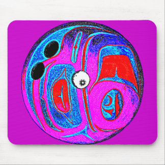 BOWLING BALL GONE CRAZY MOUSE PAD