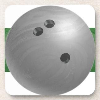 Bowling Ball Gray Coaster