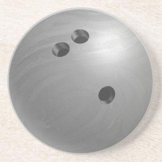 Bowling Ball Gray Drink Coaster