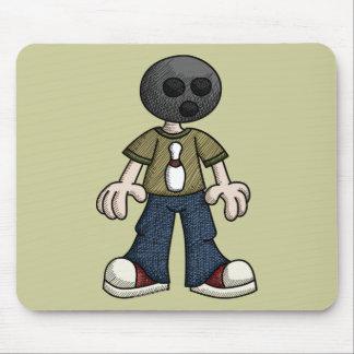 Bowling Ball Head Mousepads