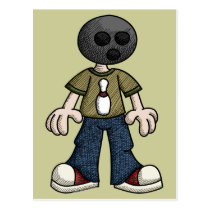 Bowling Ball Head Postcard