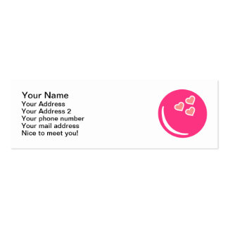 Bowling ball hearts business card