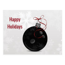 bowling ball Holiday greeting Postcard