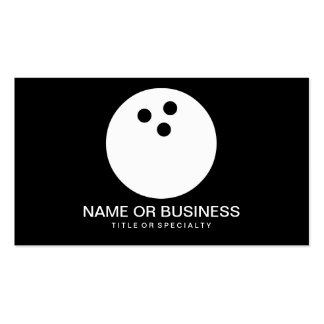 bowling ball icon Double-Sided standard business cards (Pack of 100)