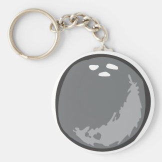 Bowling Ball in Hand drawn Style Keychain