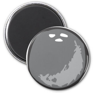 Bowling Ball in Hand drawn Style 2 Inch Round Magnet