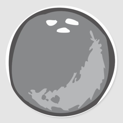 Bowling Ball in Hand drawn Style Classic Round Sticker