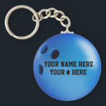 """Bowling Ball Keychain Personalize YOUR NAME ID Tag<br><div class=""""desc"""">Tennis Ball Keychain Personalize With YOUR NAME</div>"""