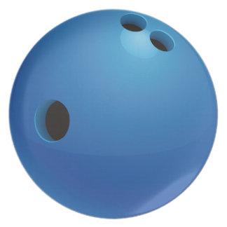 Bowling Ball Melamine Plate
