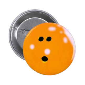 Bowling Ball (Orange) Button