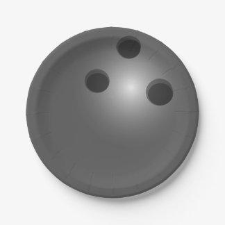 Bowling Ball Paper Plate