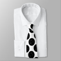Bowling Ball Patterned Custom Tie