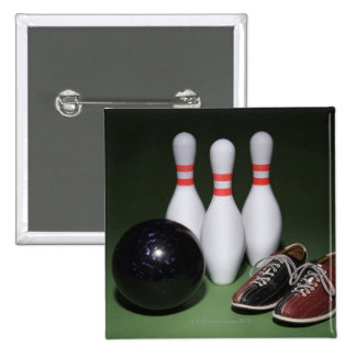 Bowling Ball Pinback Button