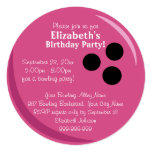 Bowling Ball Pink Birthday Party Personalized Invitation