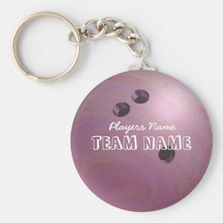 Bowling Ball Pink Keychain