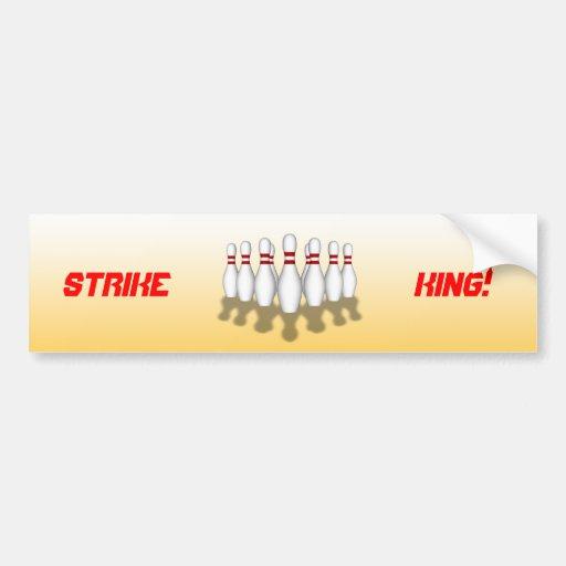 Bowling Ball & Pins: 3D Model: Bumper Sticker Car Bumper Sticker