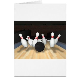 Bowling Ball & Pins: 3D Model: Cards