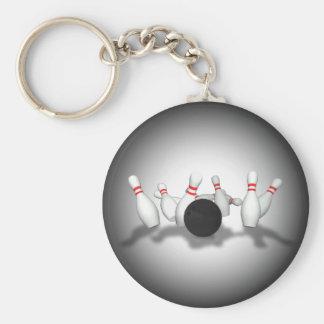 Bowling Ball & Pins: 3D Model: Keychain