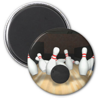 Bowling Ball & Pins: 3D Model: Refrigerator Magnets