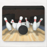 Bowling Ball & Pins: 3D Model: Mouse Pad