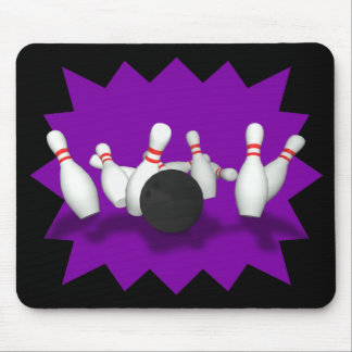 Bowling Ball & Pins: 3D Model: Mousepad